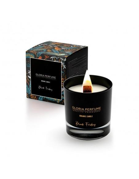 Lumânare parfumată naturală Gloria Perfume BLACK FRIDAY 220g