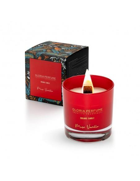 Lumânare parfumată naturală Gloria Perfume MUSK VANILLA 220g