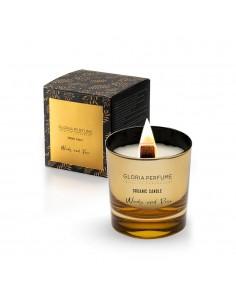 Lumânare parfumată naturală Gloria Perfume WOODY and ROSE 220g